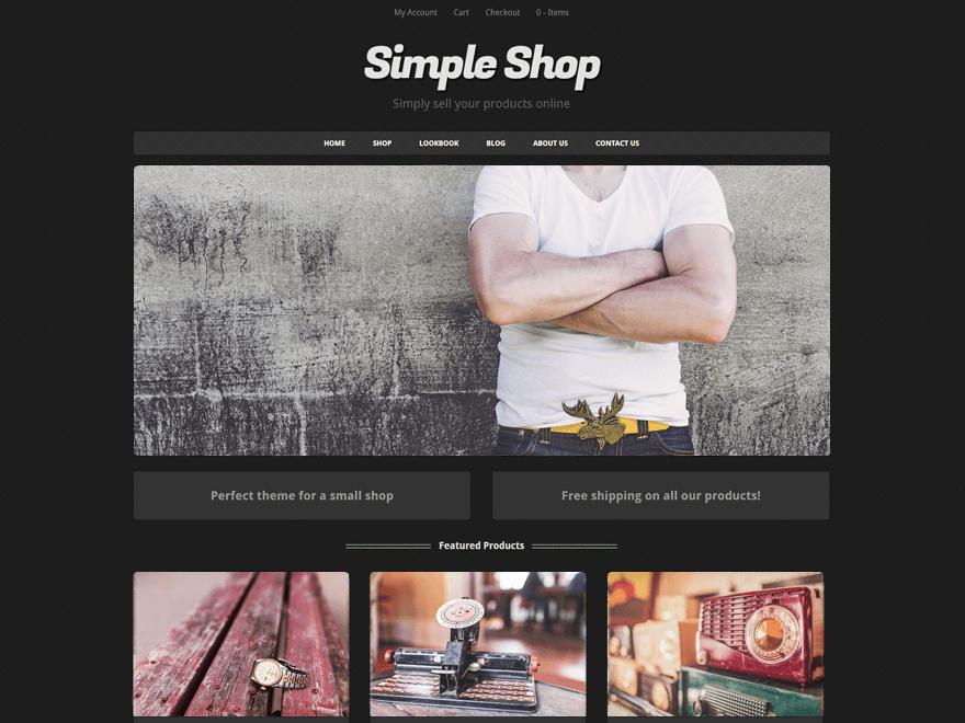 Free Simple Shop WordPress theme