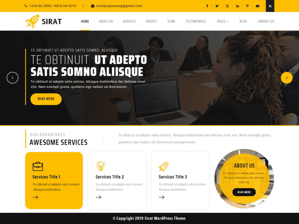 Free Sirat WordPress theme