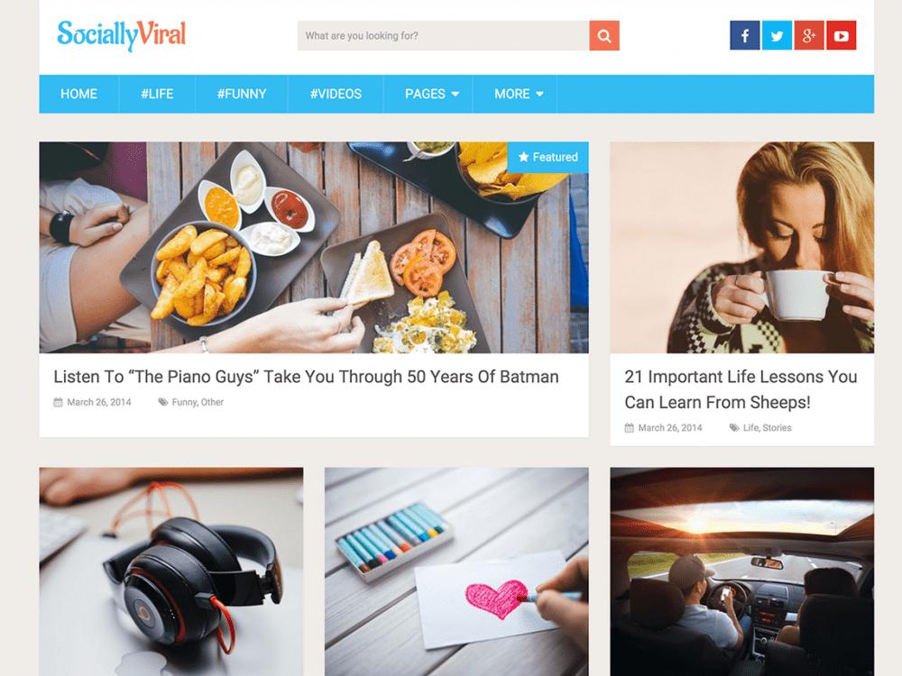 Free SociallyViral WordPress theme