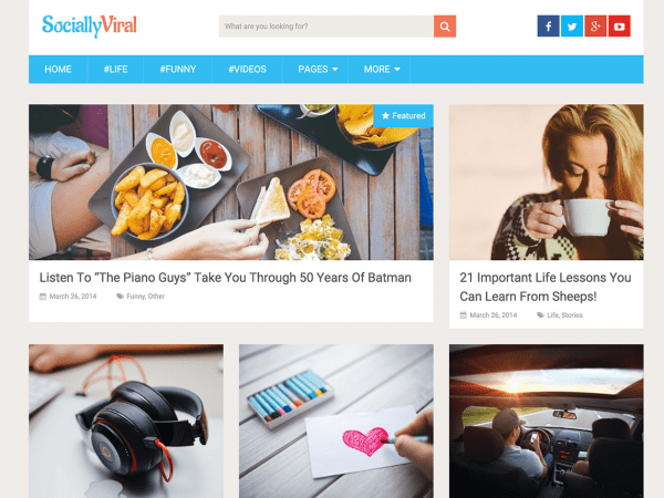Free SociallyViral WordPress theme