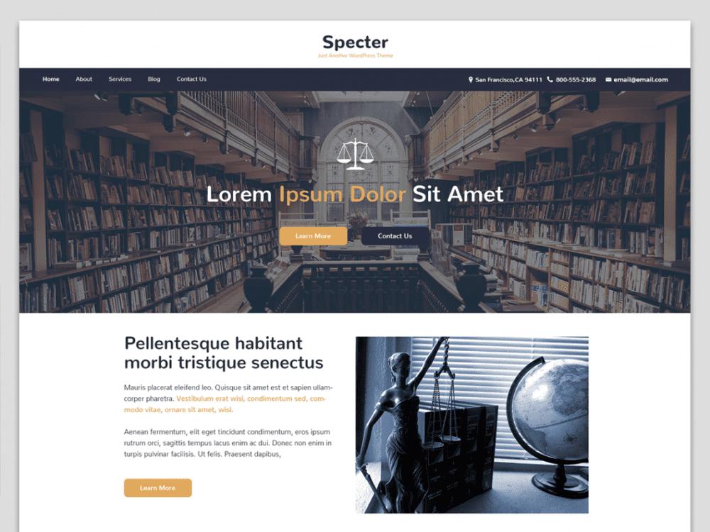 Free Specter WordPress theme