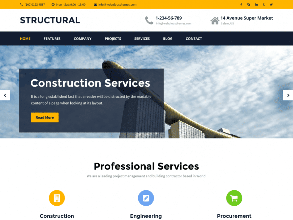 Free Structural WordPress theme