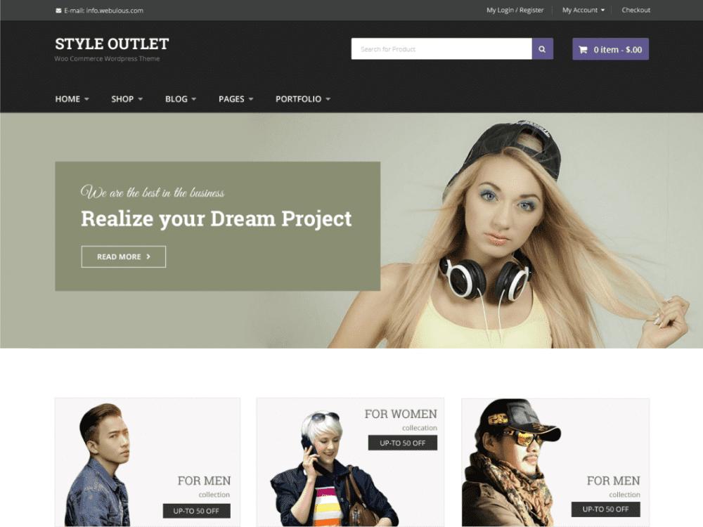 Free Style Outlet WordPress theme