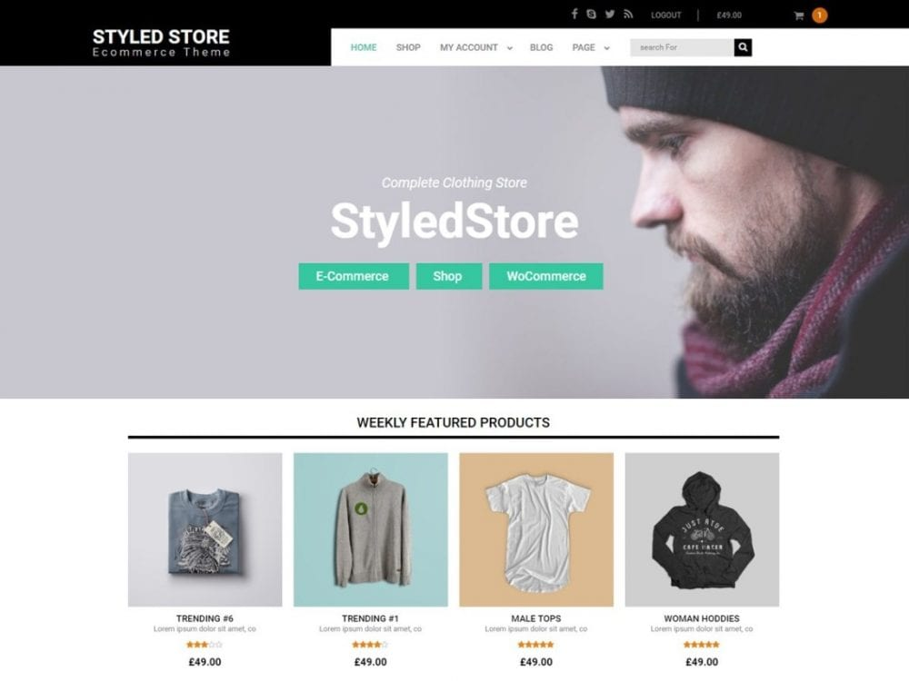 Free Styled Store WordPress theme