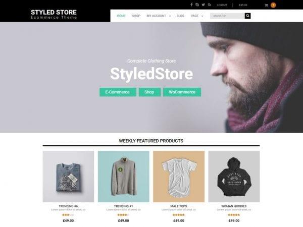 Free Styled Store WordPress theme
