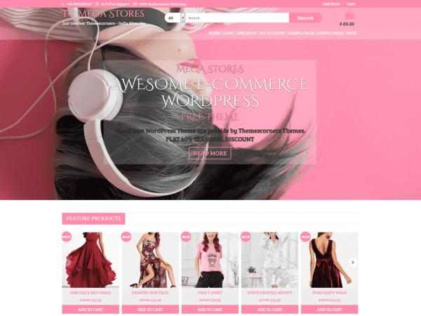 Free TC Mega Stores WordPress theme