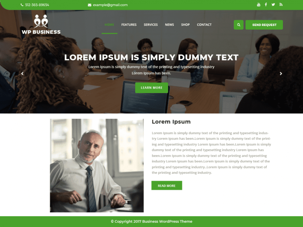 Free The WP Business Corner WordPress theme