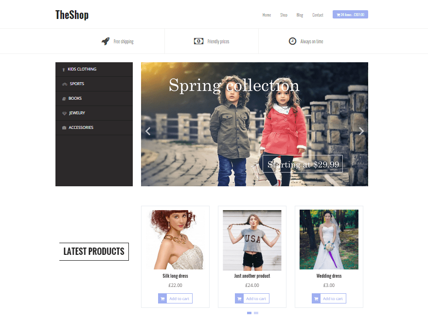Free TheShop WordPress theme