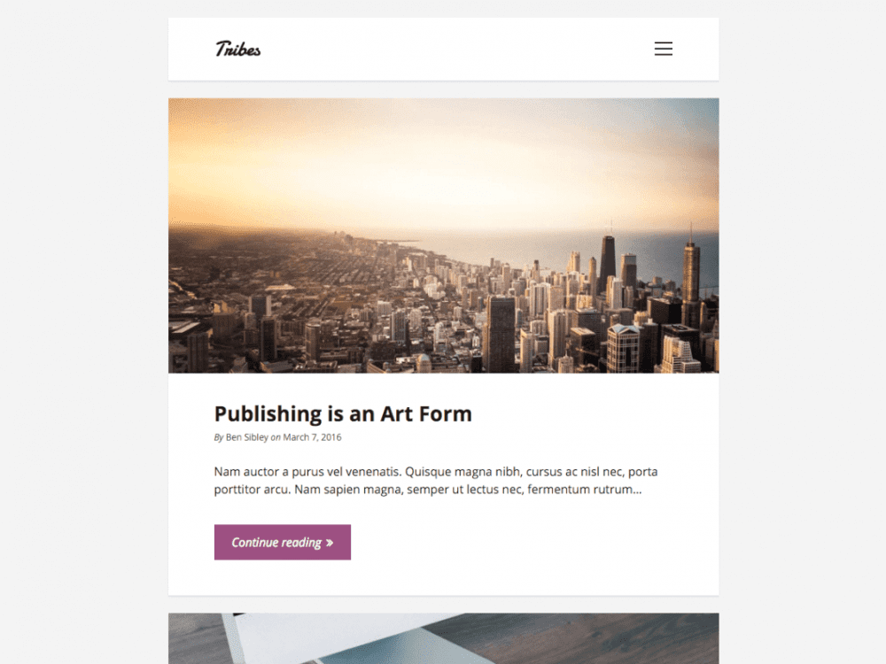 Free Tribes WordPress theme