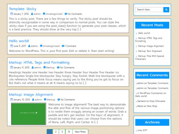 Free Unik WordPress theme