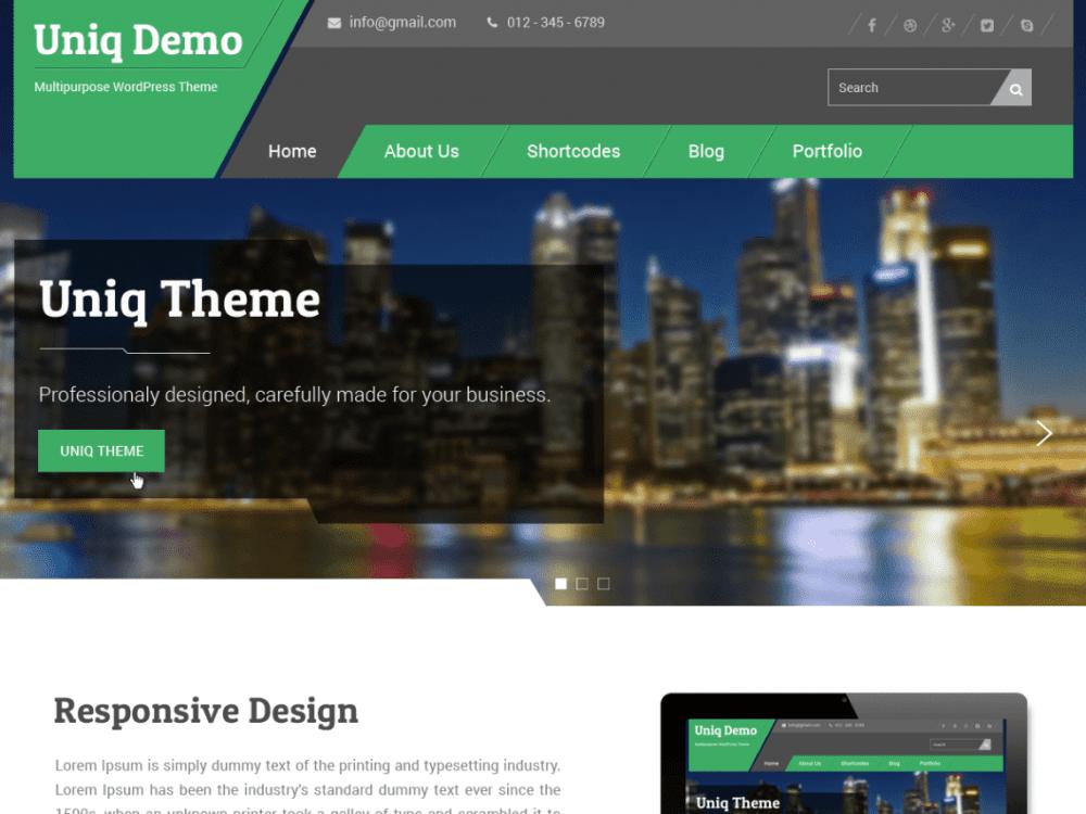 Free Uniq WordPress theme