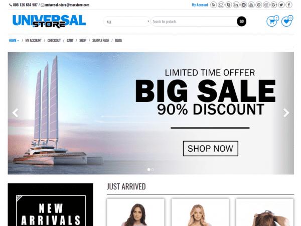 Free Universal Store WordPress theme