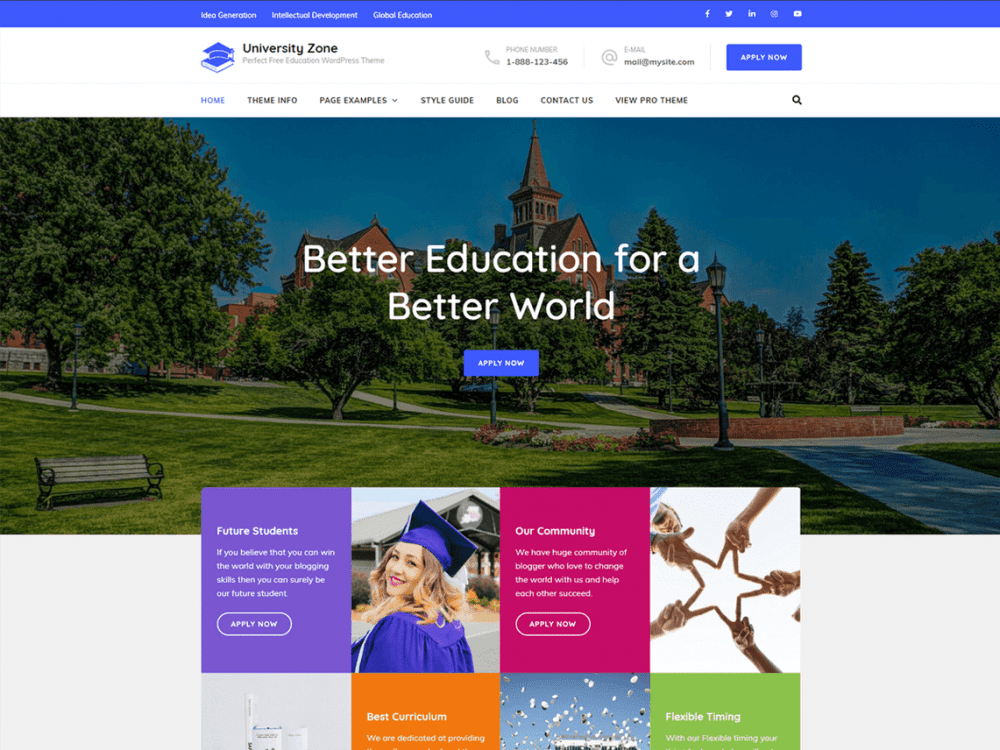 Free University Zone WordPress theme