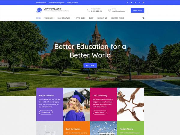 Free University Zone WordPress theme