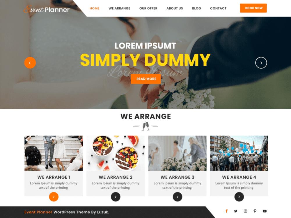 Free Utsav Event Planner WordPress theme
