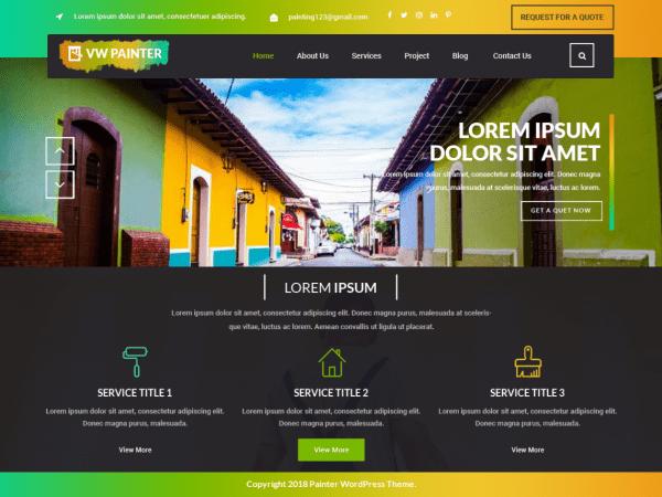 Free VW Painter WordPress theme