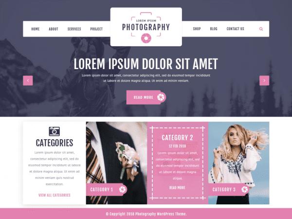 Free VW Photography WordPress theme