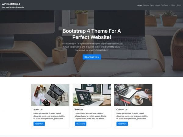 Free WP Bootstrap 4 WordPress theme