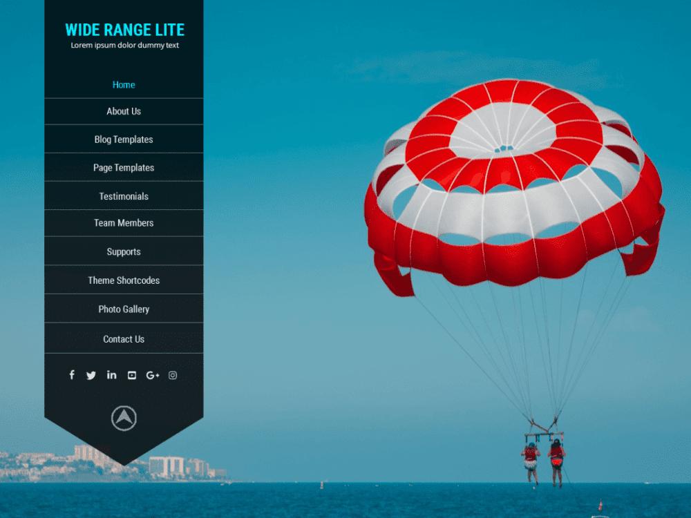 Free Wide Range Lite WordPress theme