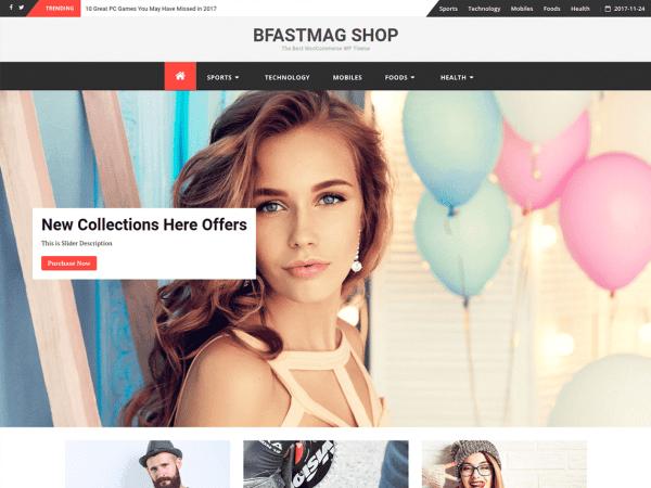 Free bFastMag Shop WordPress theme