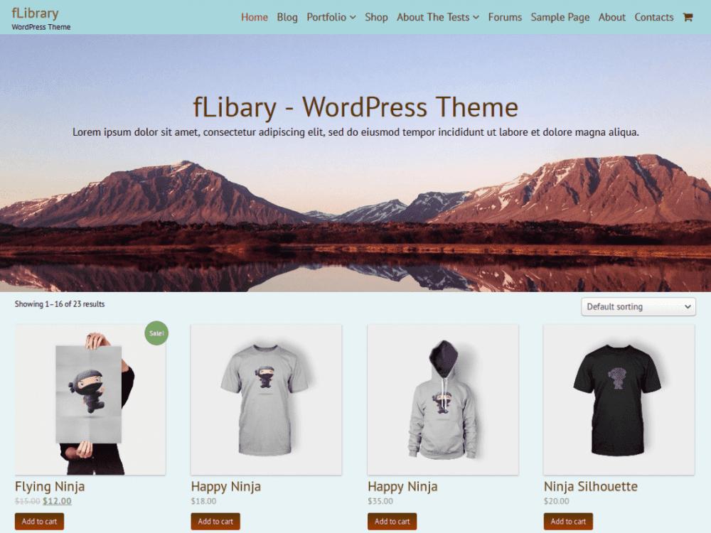 Free fLibrary WordPress theme