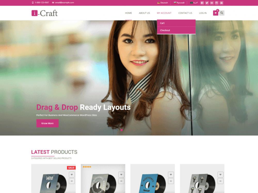 Free i-craft WordPress theme