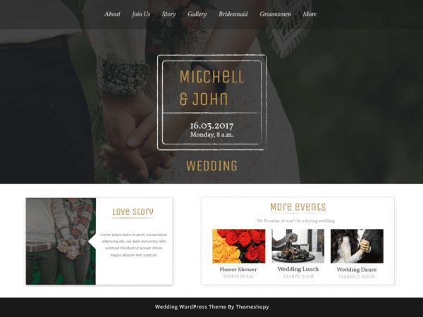 FreeBB Wedding Bliss WordPress theme
