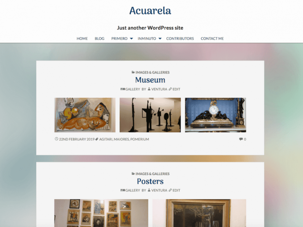 Free Acuarela WordPress theme