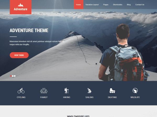 Free Adventure Lite WordPress theme