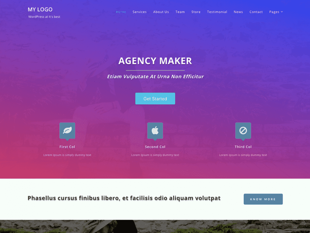 Free Agency Maker WordPress theme