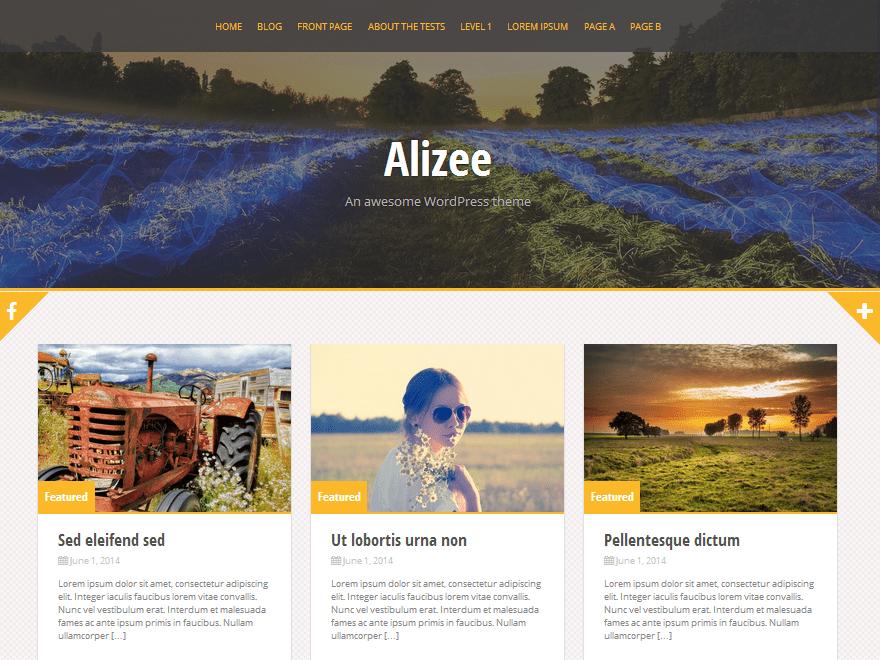 Free Alizee WordPress theme