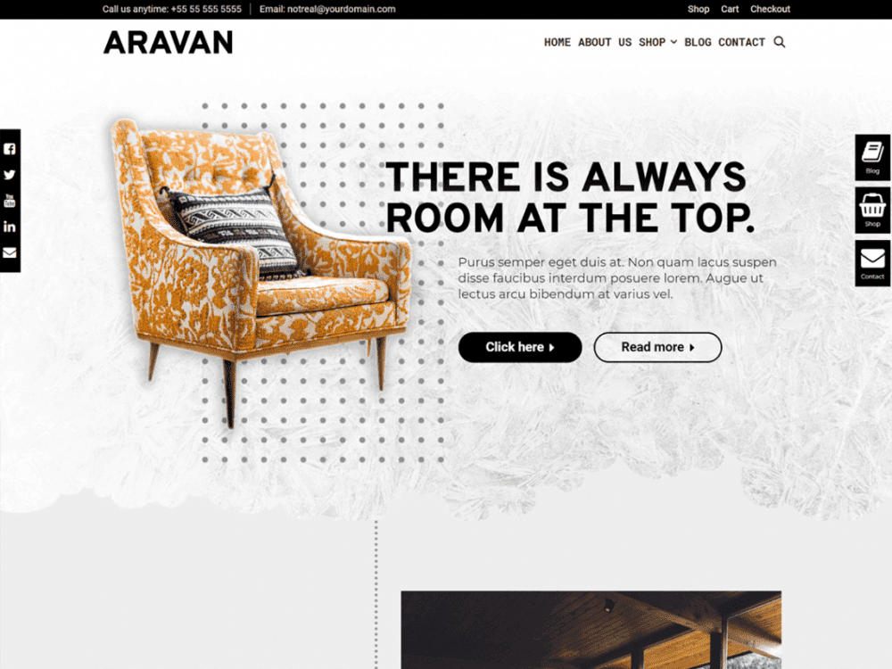 Free Aravan WordPress theme