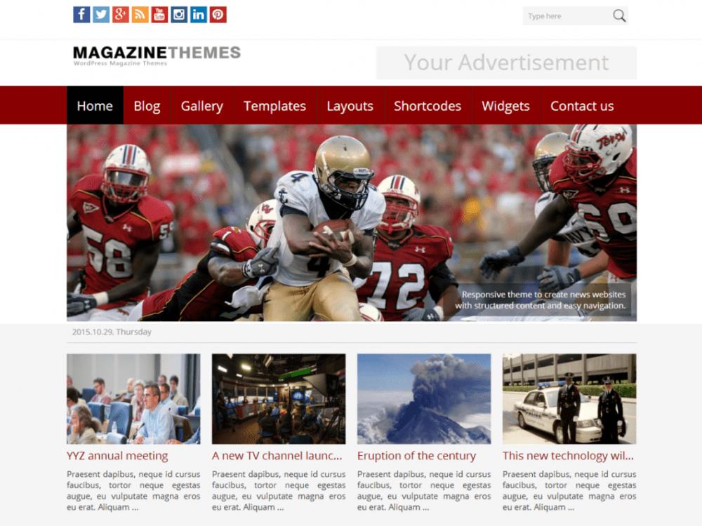 Free Best Magazine WordPress theme