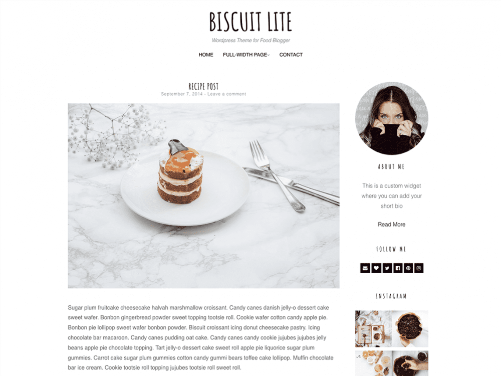 Free Biscuit Lite WordPress theme