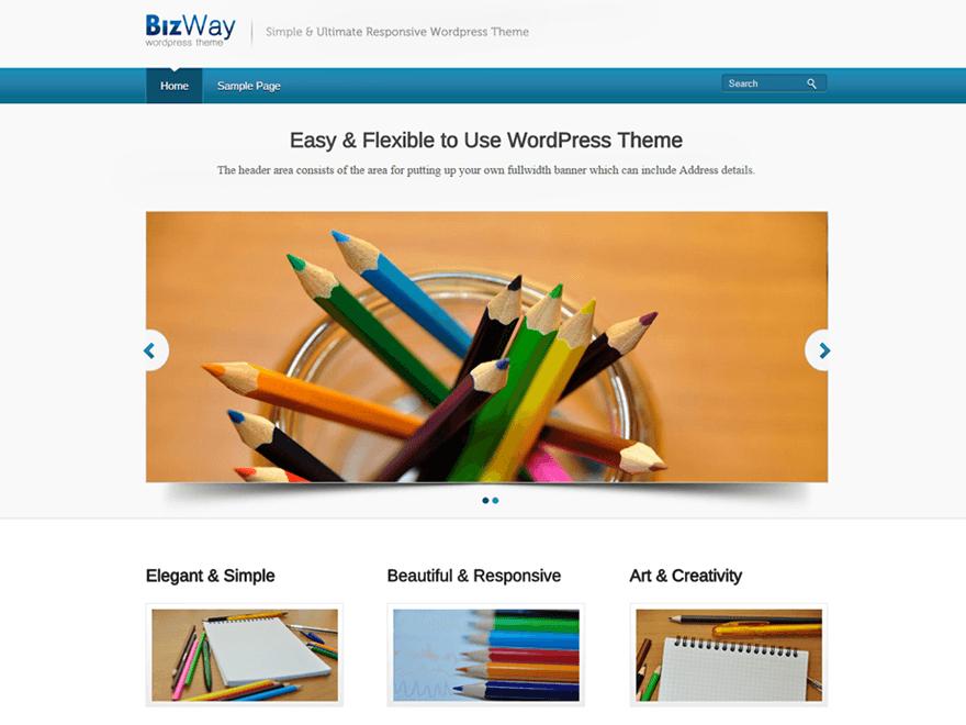 Free BizWay WordPress theme