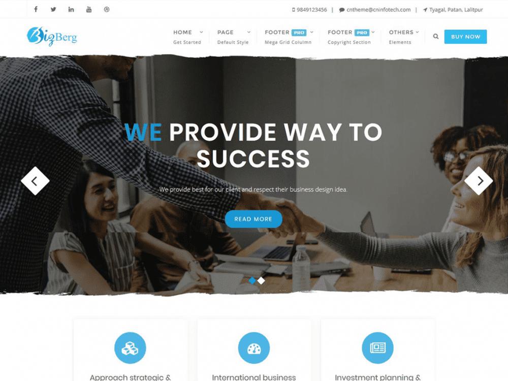 Free Bizberg WordPress theme
