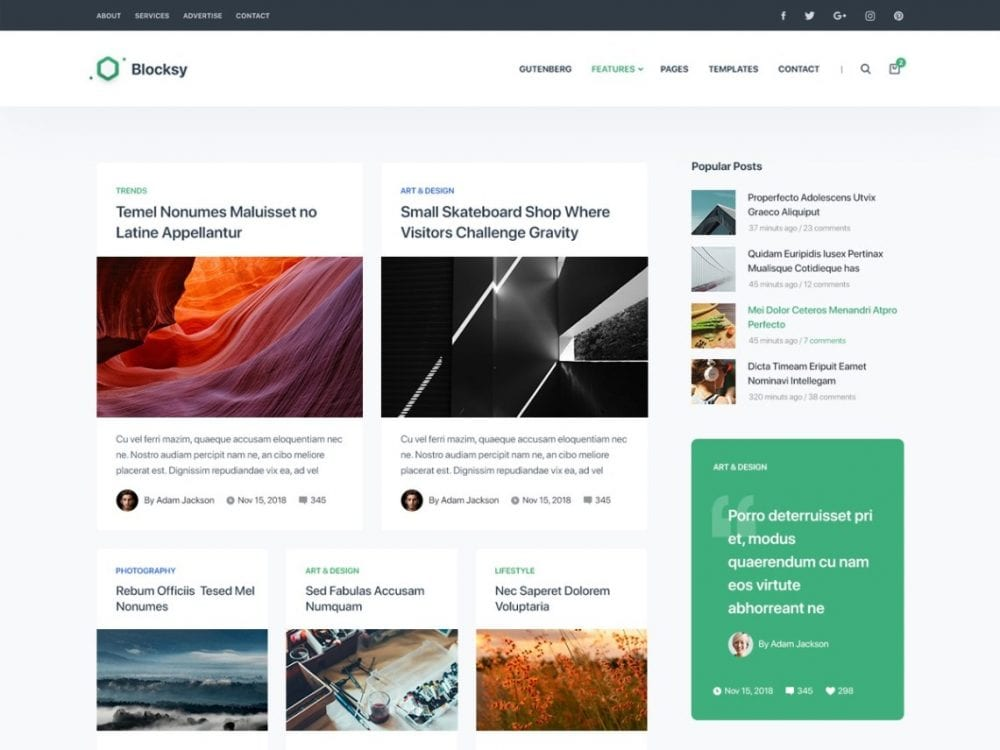 Free Blocksy WordPress theme