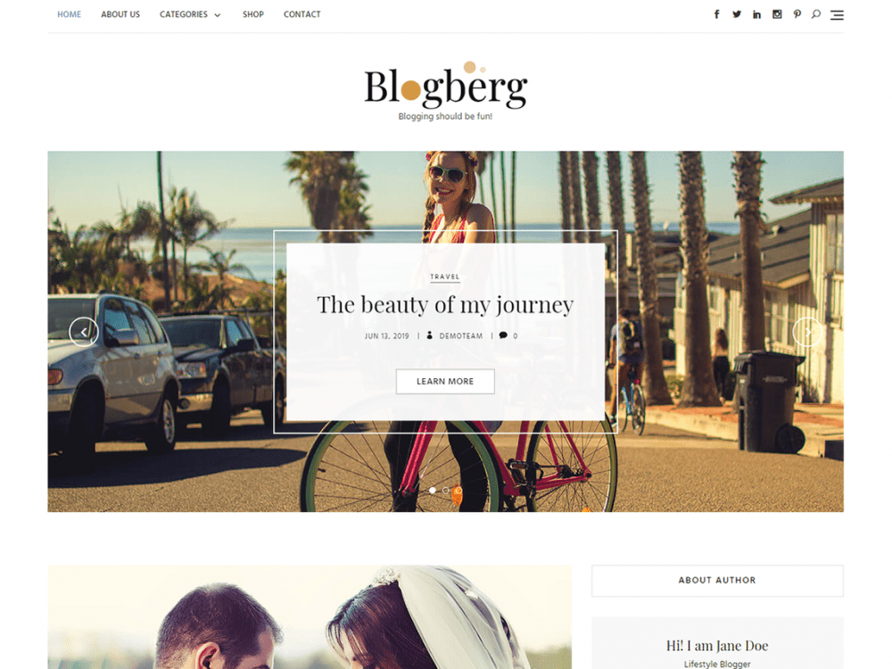 Free Blogberg WordPress theme