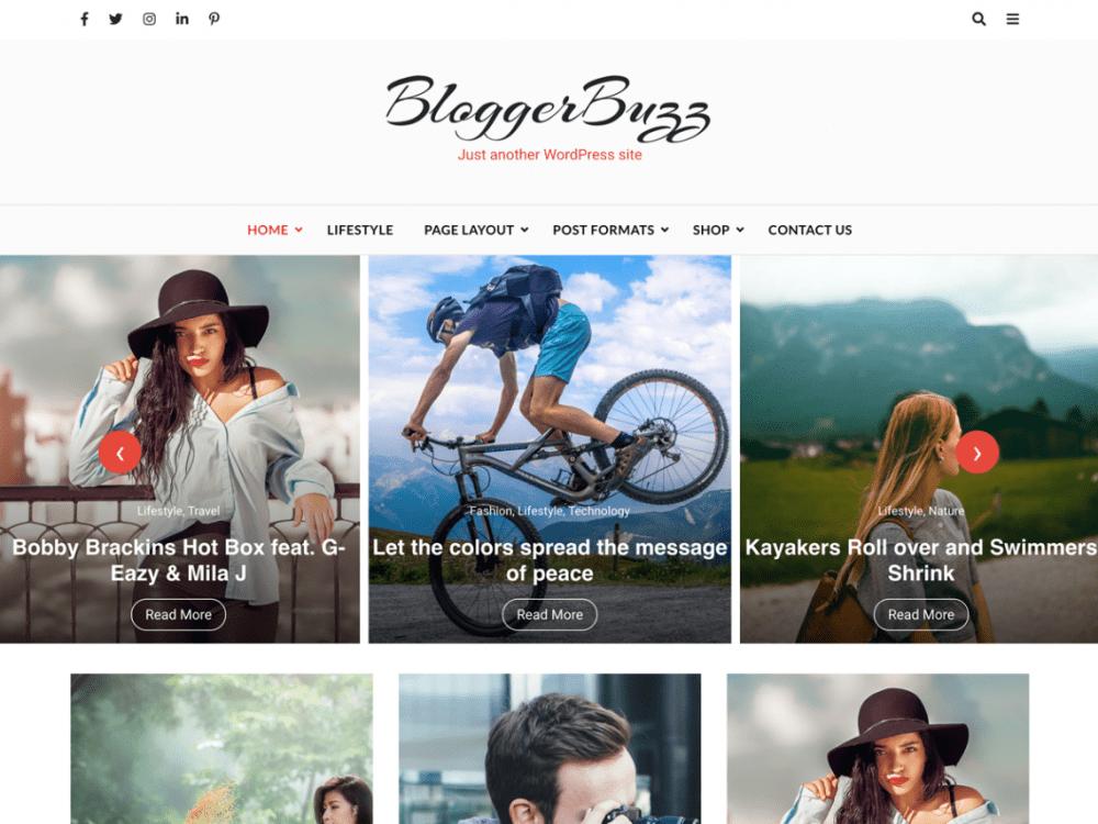 Free Blogger Buzz WordPress theme