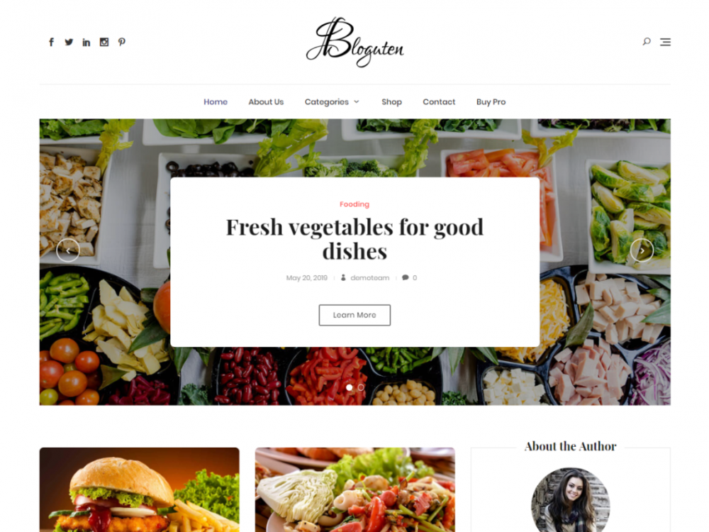Free Bloguten WordPress theme