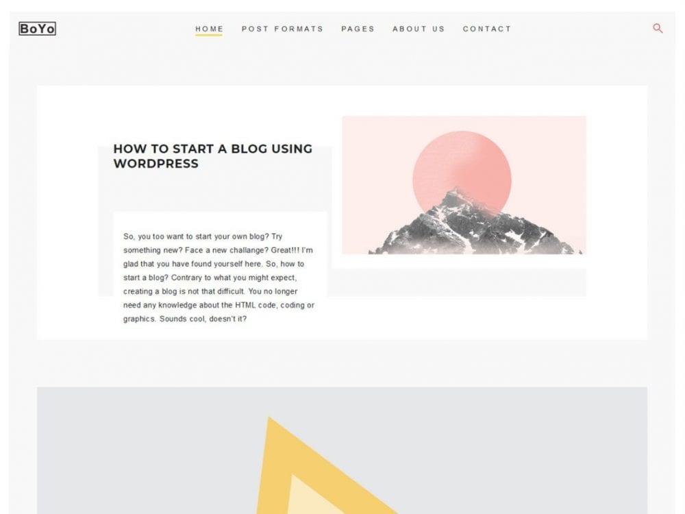 Free Boyo WordPress theme