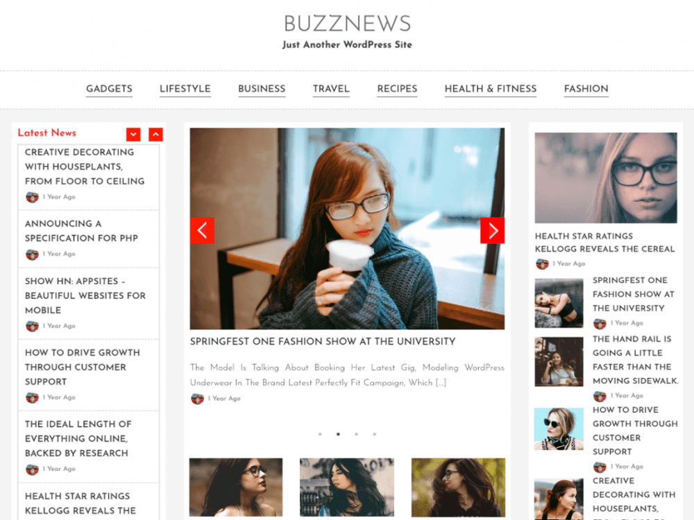 Free BuzzNews WordPress theme