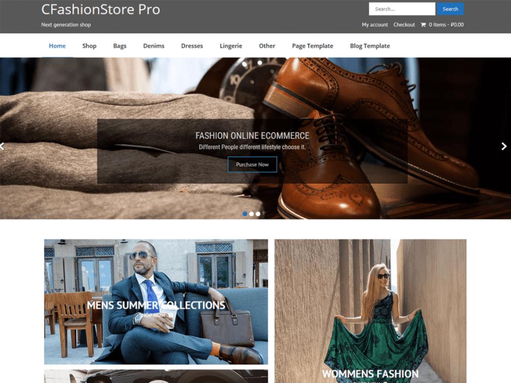 Free CFashionStore Lite WordPress theme