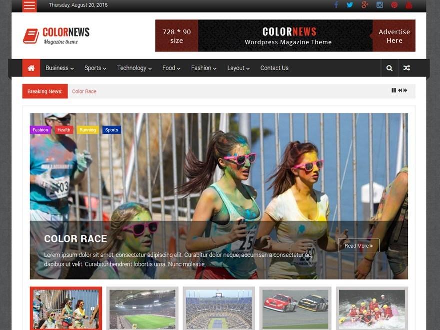 Free ColorNews WordPress theme