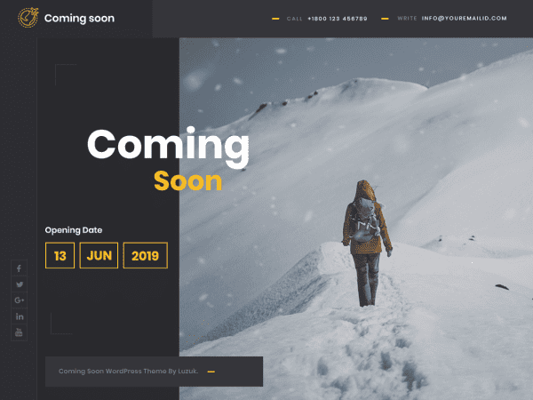Free Coming Soon Lite WordPress theme