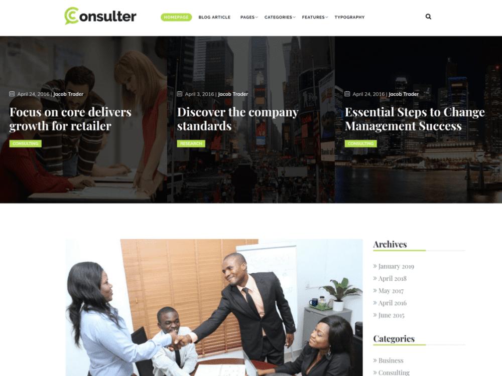 Free Consulter WordPress theme
