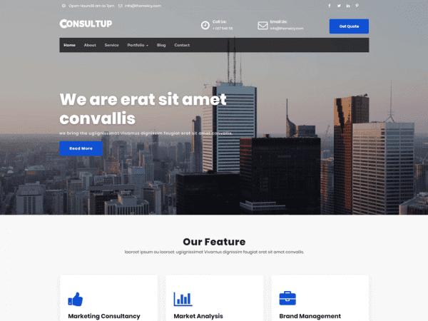 Free Consultup WordPress theme