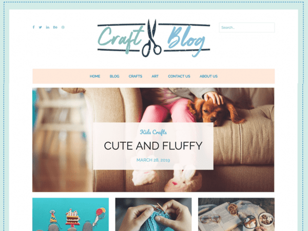 Free Craftyblog WordPress theme