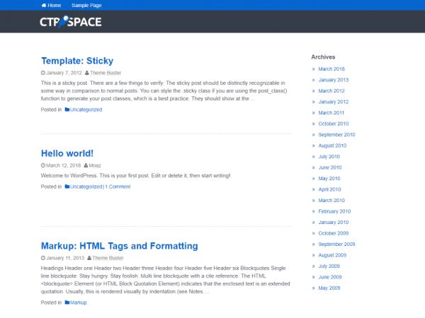 Free CtrSpace Lite WordPress theme