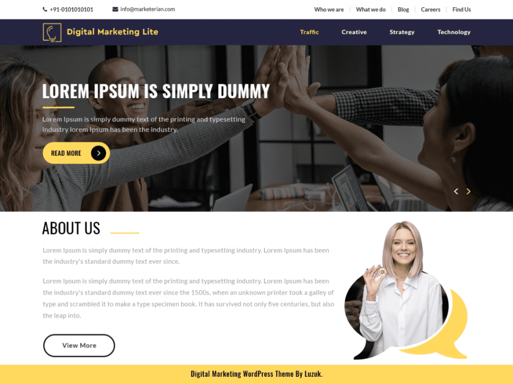 Free Digital Marketing Lite WordPress theme